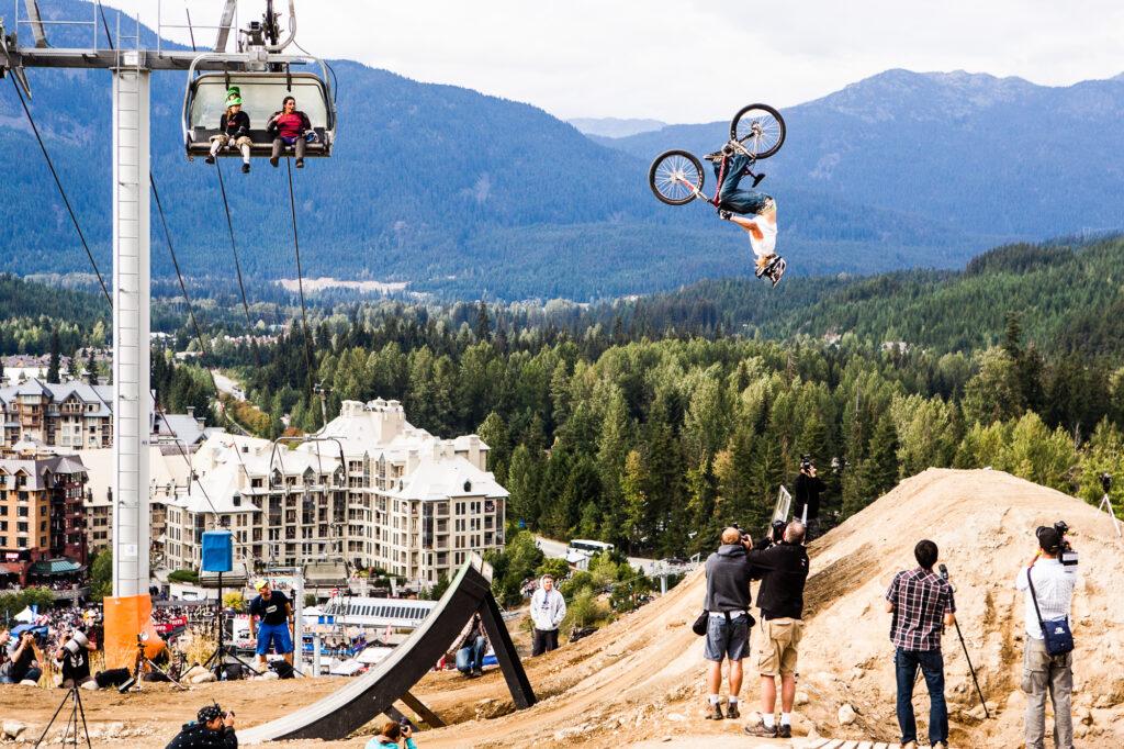 Kelly McGarry, Whistler BC, Crankworx finals, backflip